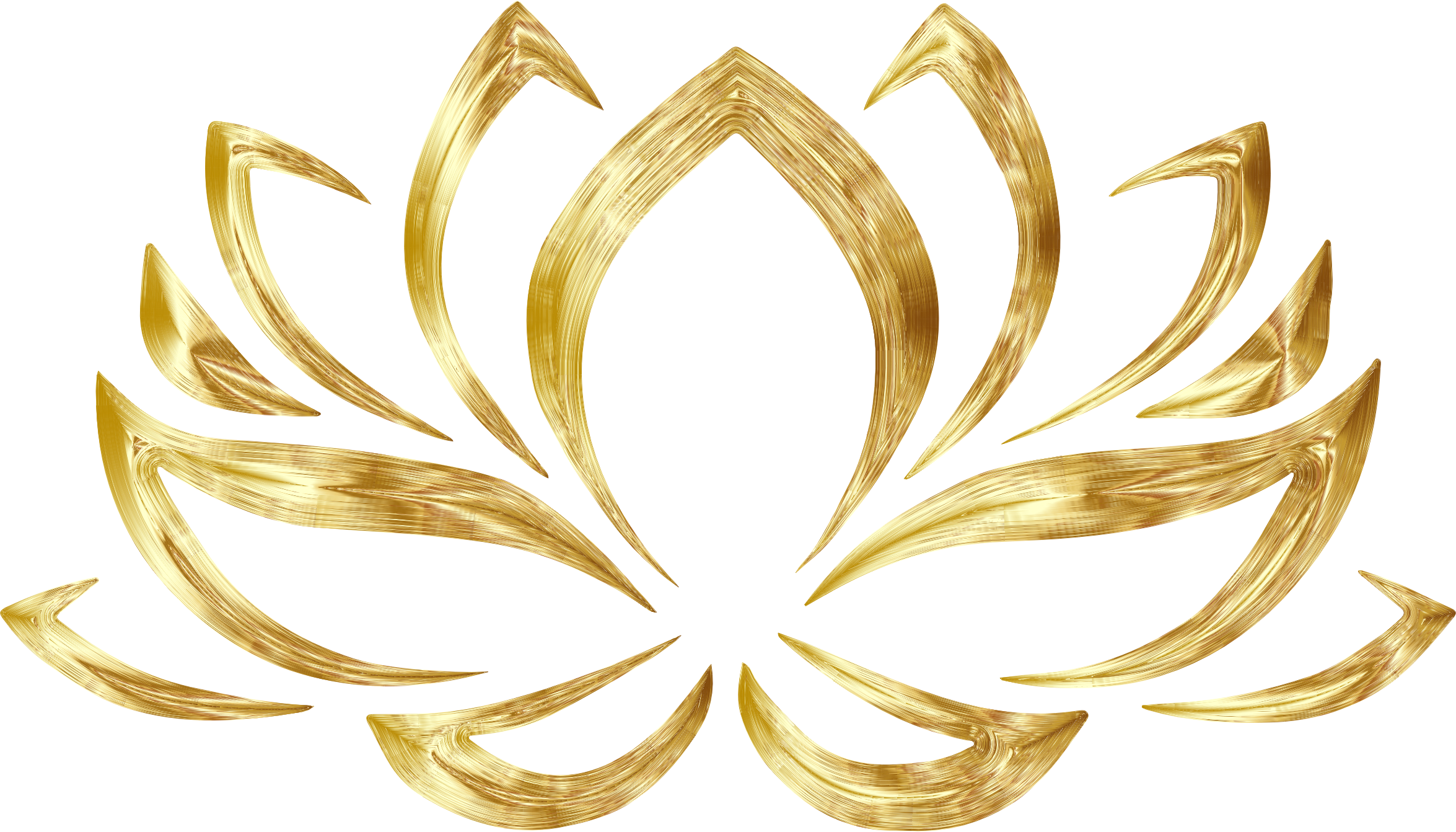 stock Goldenized flower big image. Lotus clipart abstract.