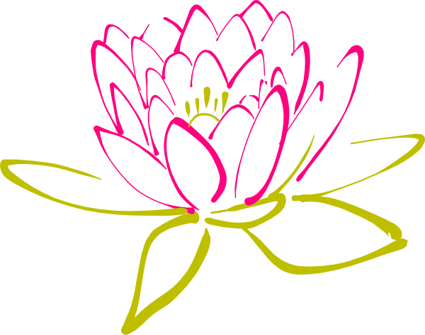 clip royalty free Clip art at clker. Lotus clipart abstract.
