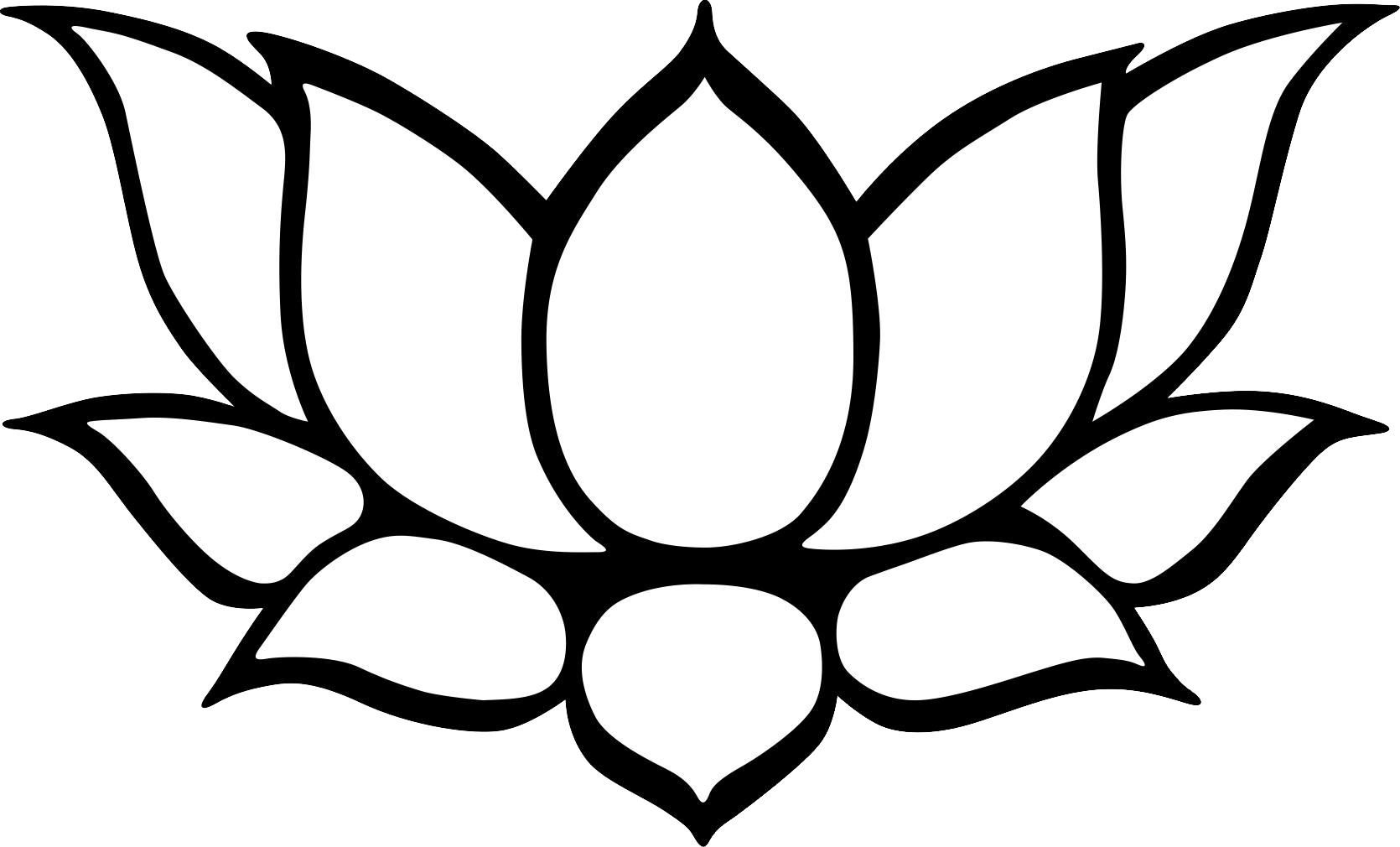 image black and white  collection of kamal. Lotus clipart black and white