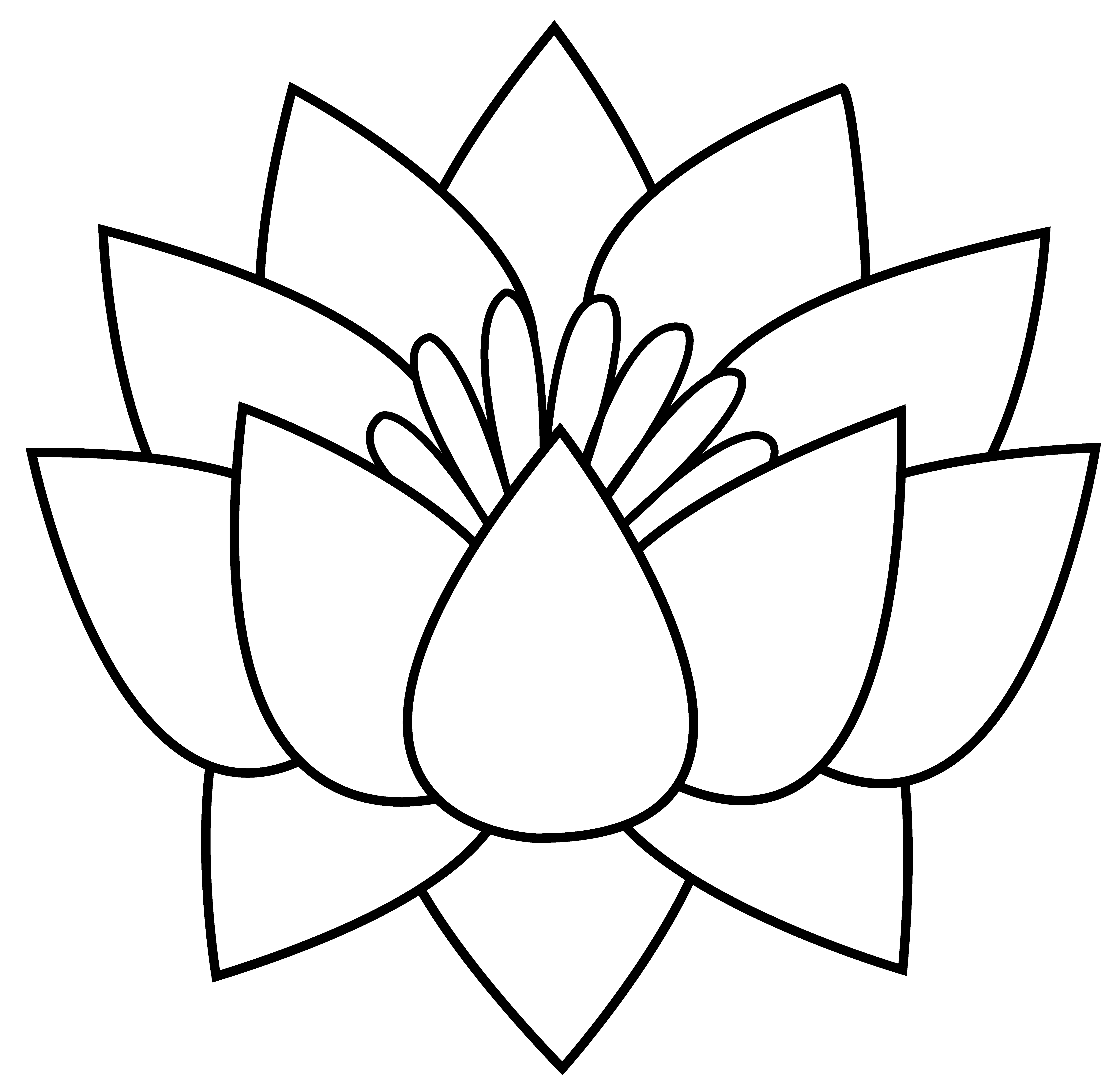 png library library Japanese Lotus Flower Drawing at GetDrawings