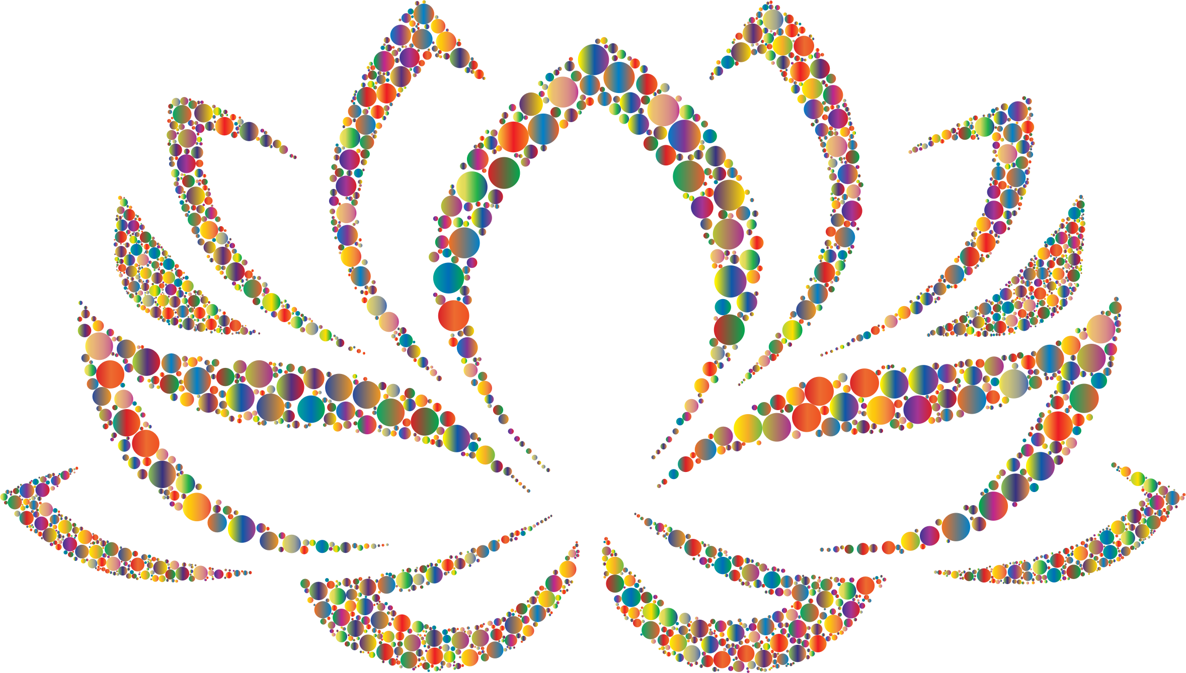 clip free library Colorful circles big image. Lotus clipart cool flower.