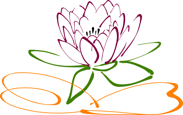 clipart black and white download Lotus clipart cool flower. Clip art google search.