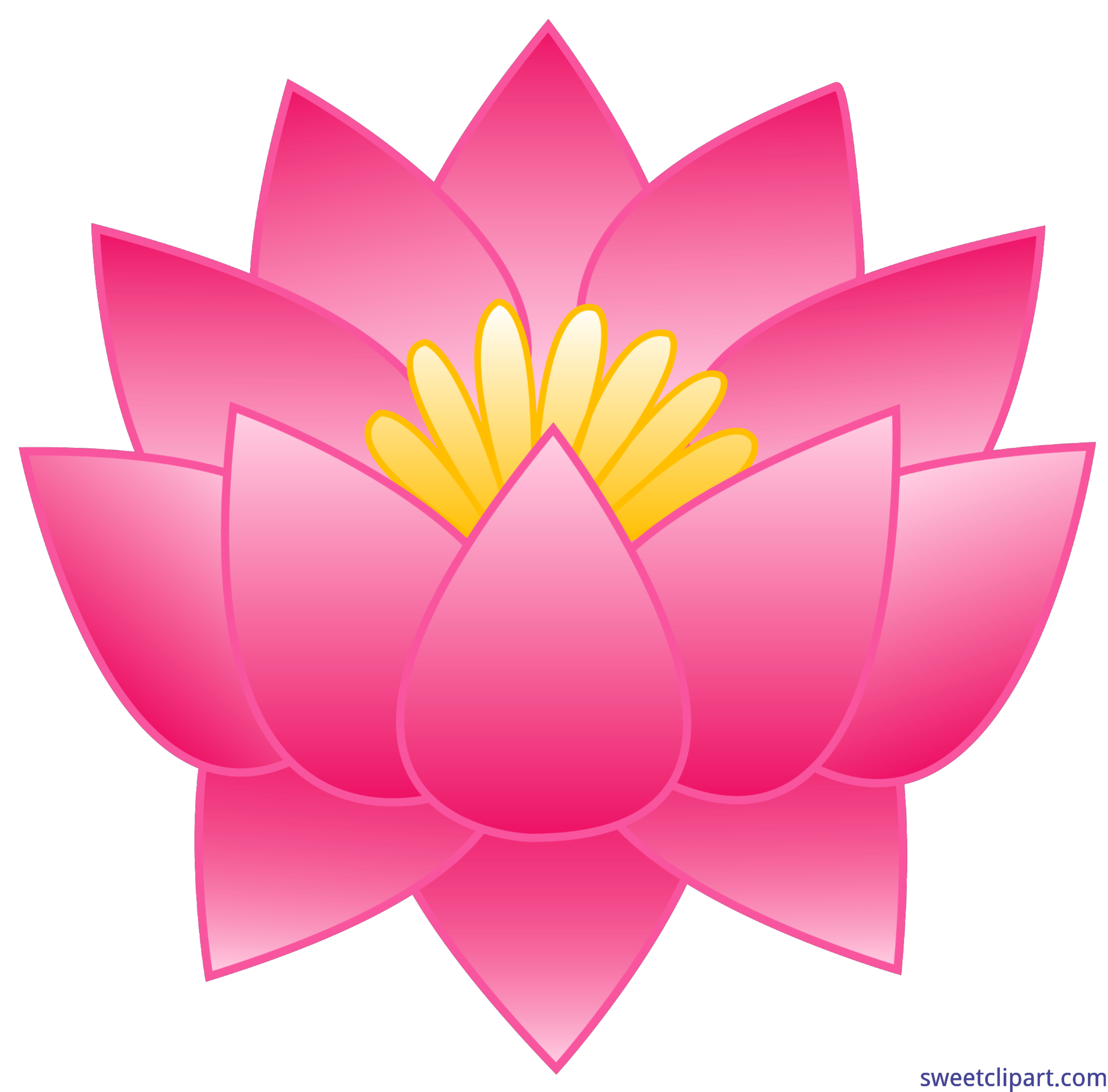 clipart royalty free stock Lotus clipart cool flower. Pink clip art sweet.