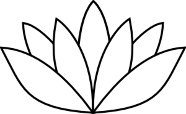 jpg transparent download Flower stencil pencil and. Lotus clipart lout.