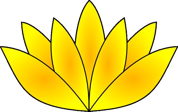 clip transparent Gold clip art at. Lotus clipart lout.