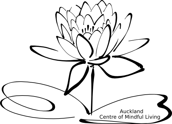 svg black and white library Lotus flower black and white clipart. Mindful living clip art