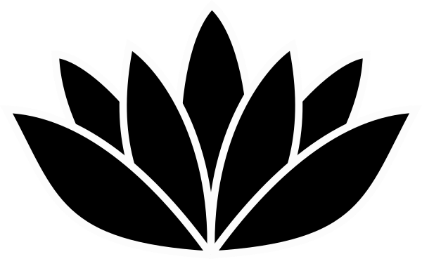 image royalty free library Lotus flower clipart black and white. Picture clip art at