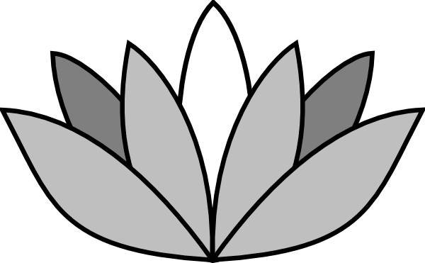 image freeuse Lotus flower clipart black and white. Greyscale clip art vector