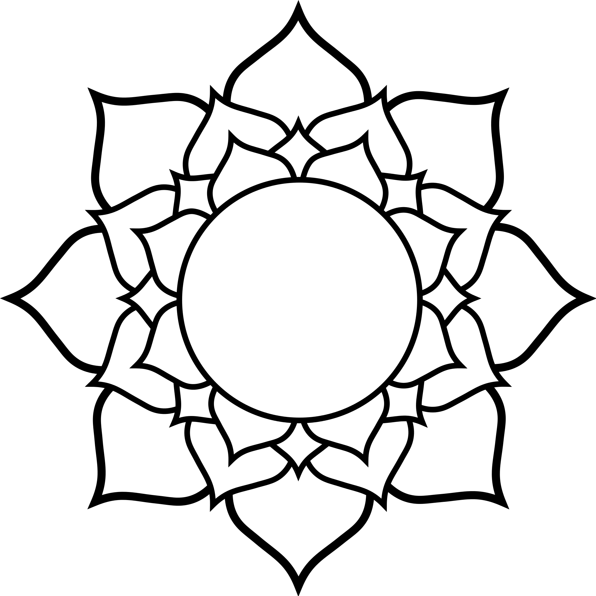 png black and white Lotus svg. File wikimedia commons open