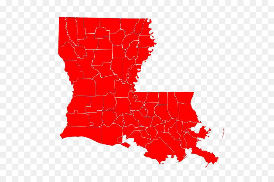 clip art freeuse stock Map cartoon illustration transparent. Louisiana clipart red.