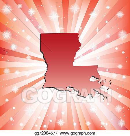 banner free stock Eps illustration vector . Louisiana clipart red.