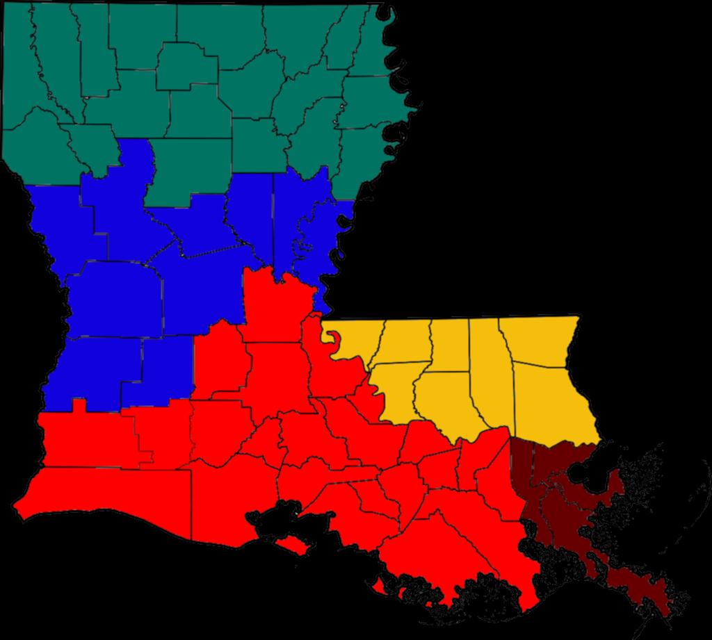 jpg freeuse library Louisiana vector. File blank regions map.