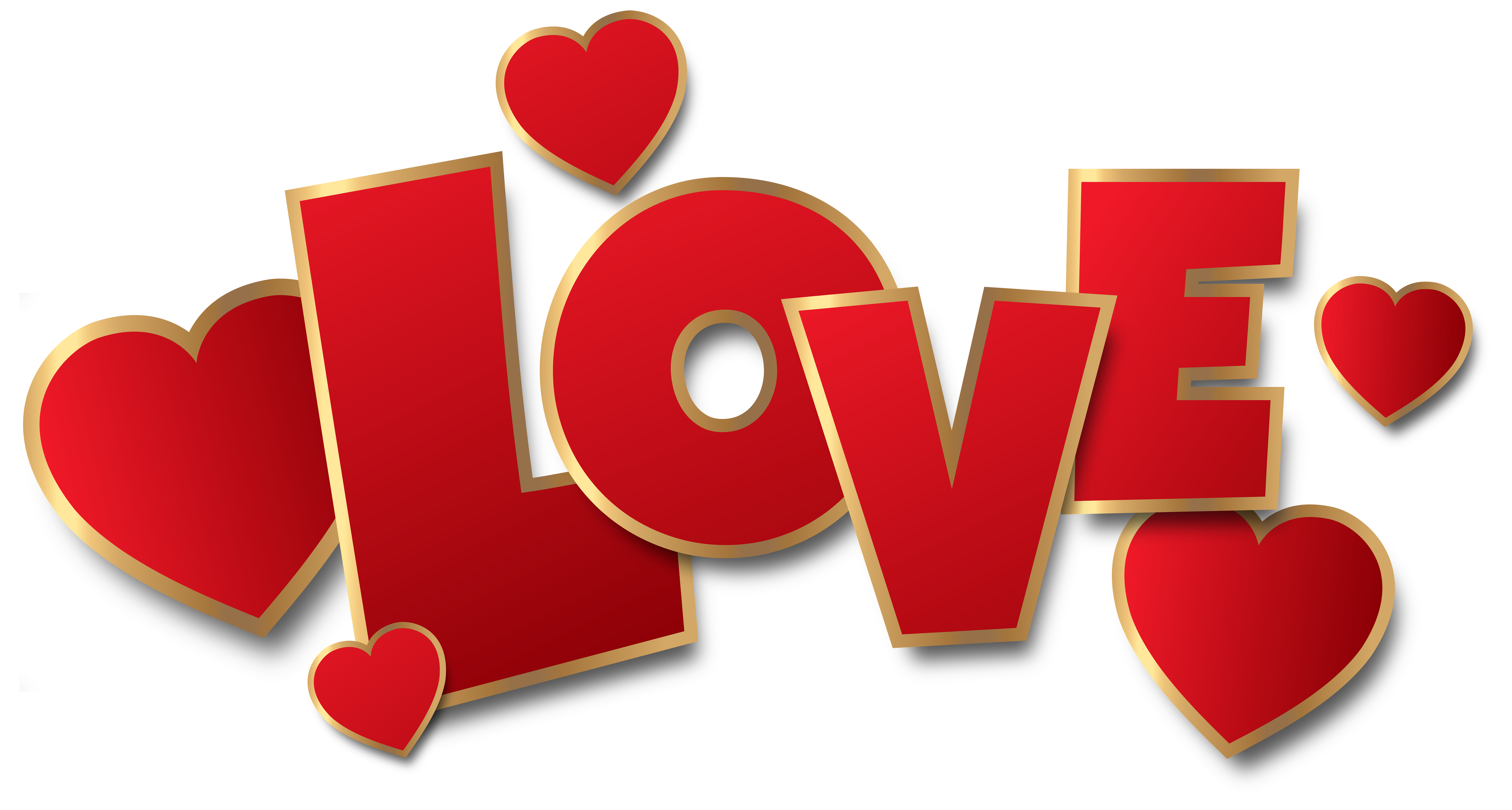graphic free Love clipart. Red transparent png clip.
