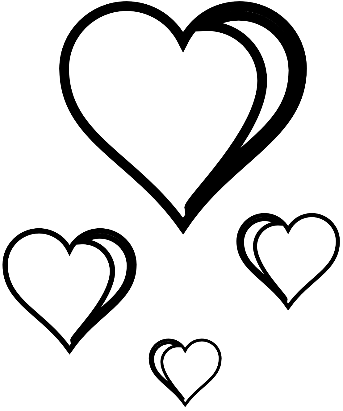 vector transparent Love clipart black and. Valentine drawing cute