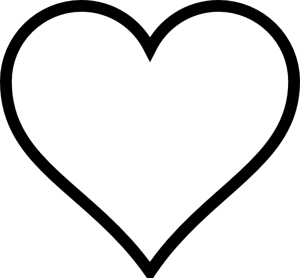 image freeuse library Black and white clip. Western heart clipart