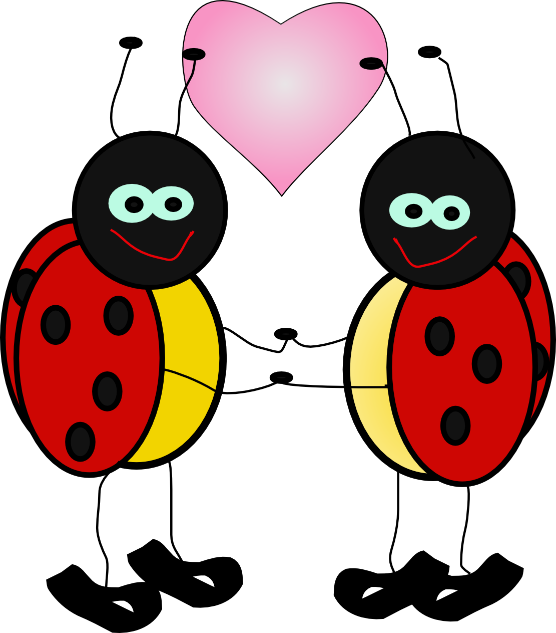 banner stock Love clipart ladybug.  transparent decoration png.