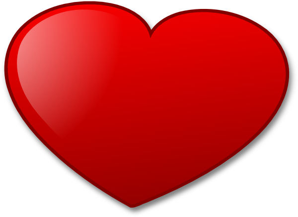 png freeuse library Love Heart Clip Art at Clker