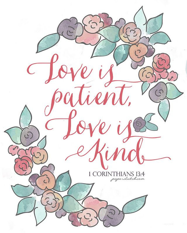 banner royalty free download Love is patient love is kind clipart. Free printable via