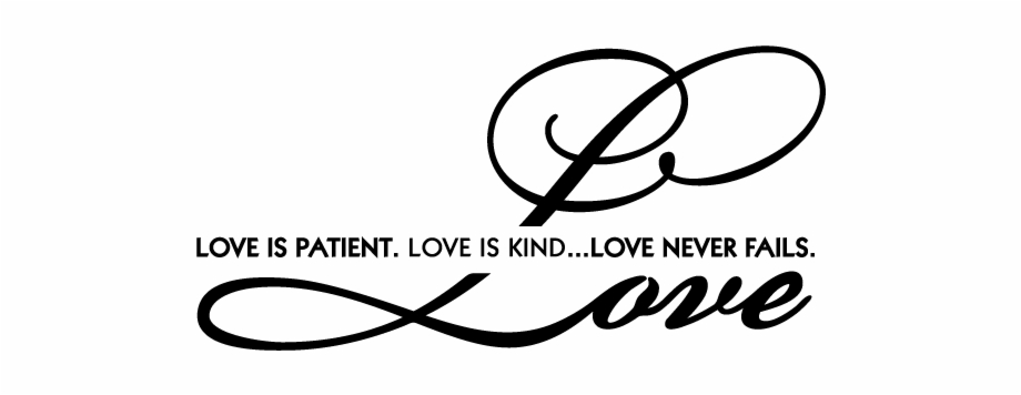 vector Tattoo png free . Love is patient love is kind clipart