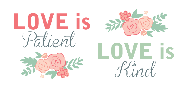 banner black and white download Love is kind clipart