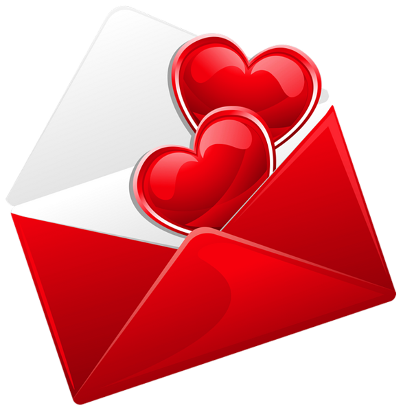 jpg royalty free stock Transparent Red Love Letter with Hearts PNG Picture