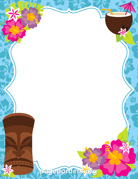 svg freeuse library Pin by muse printables. Luau clipart and borders.