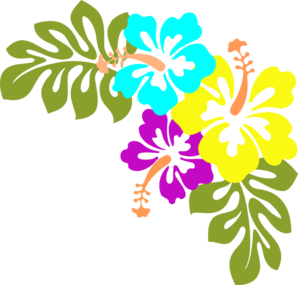 graphic black and white download Luau clipart.