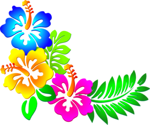 picture freeuse library Hibiscus corner clip art. Luau clipart hawaiian food.