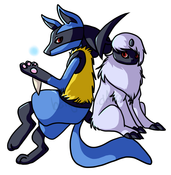 clipart library lucario and absol by barujiina on DeviantArt