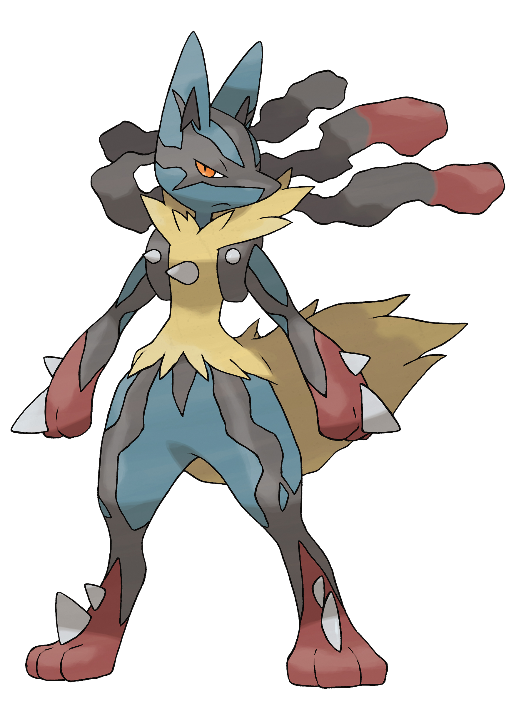 banner black and white Aura the Lucario