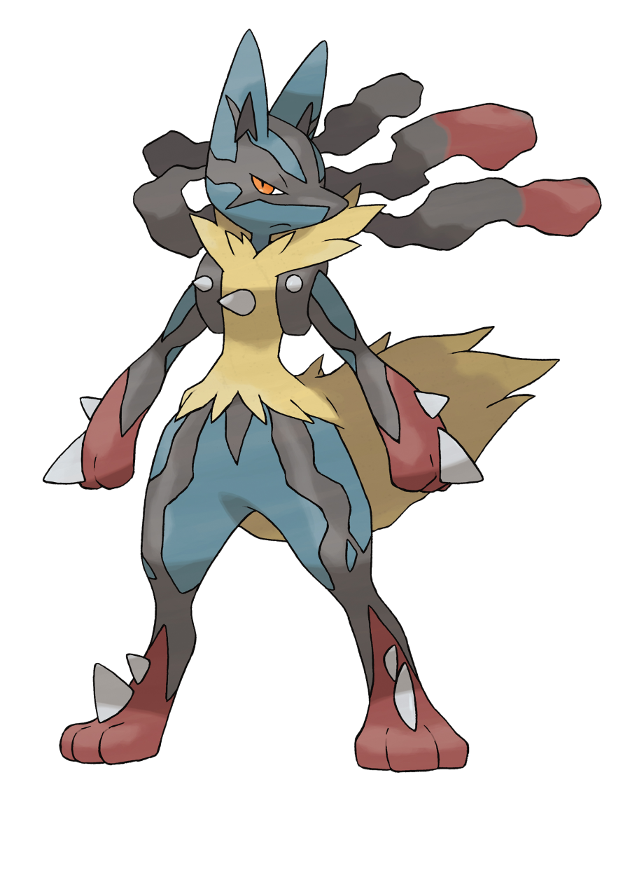 clip royalty free library View evolution png . Lucario transparent mega