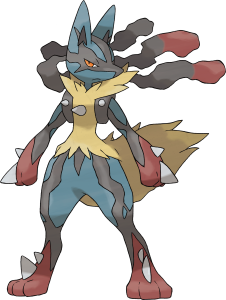 svg black and white library Mega Lucario