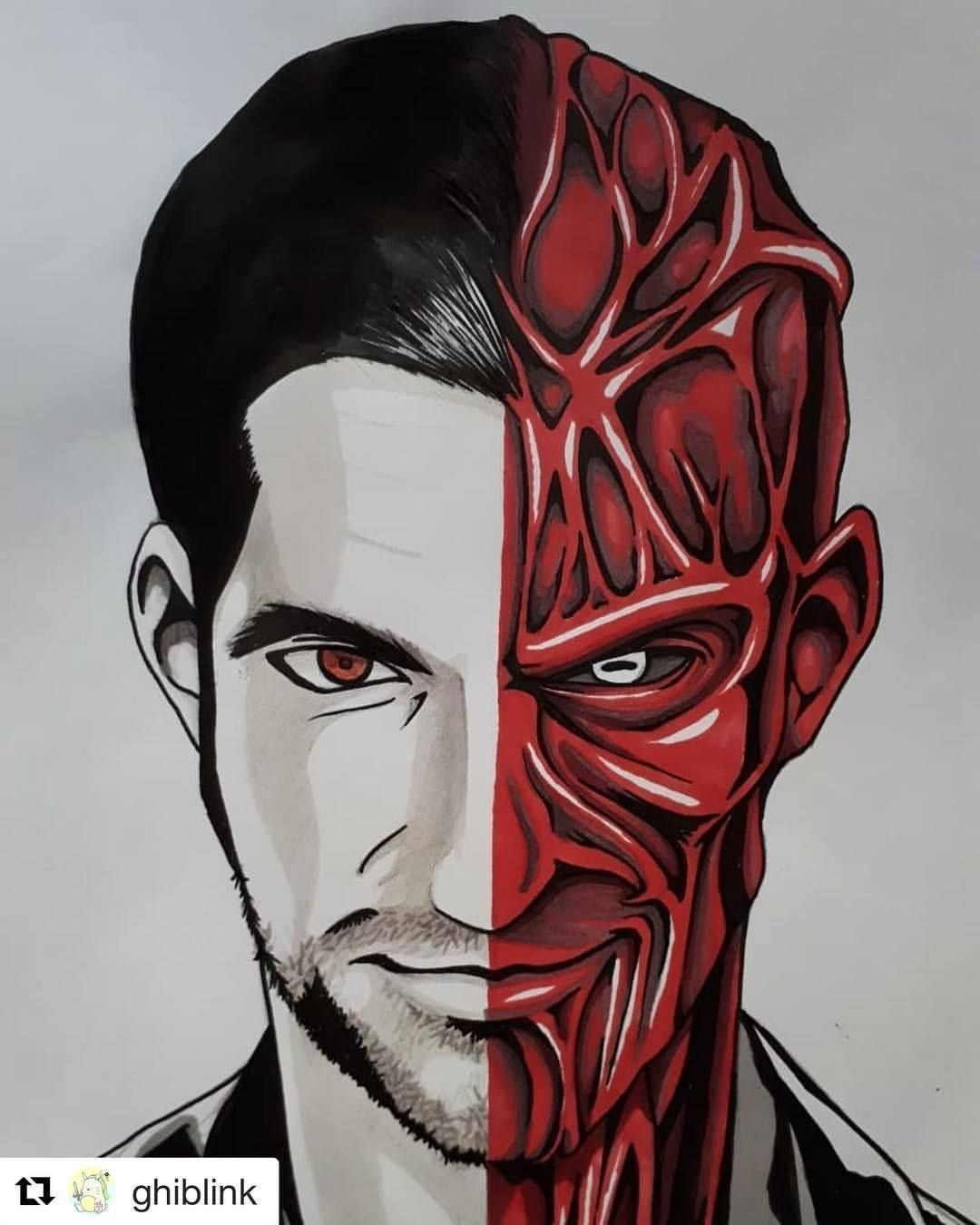 vector free library Awesome fanart . Lucifer drawing morningstar