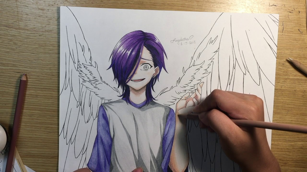 clip art transparent download Urushihara hanz speed draw. Lucifer drawing the devil is a part timer