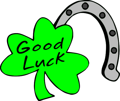 black and white stock Luck clipart. Good png transparent images.