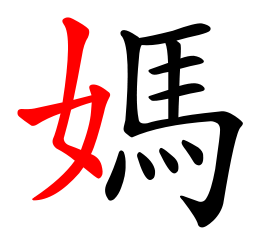 stock Luck clipart character chinese. Radical characters wikipedia in.