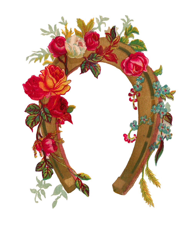 clip art download Antique images rose flower. Luck clipart wonderful.