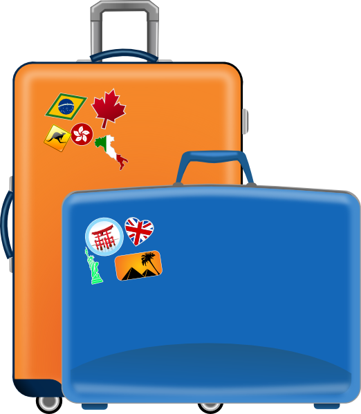 image black and white library Luggage clipart. .