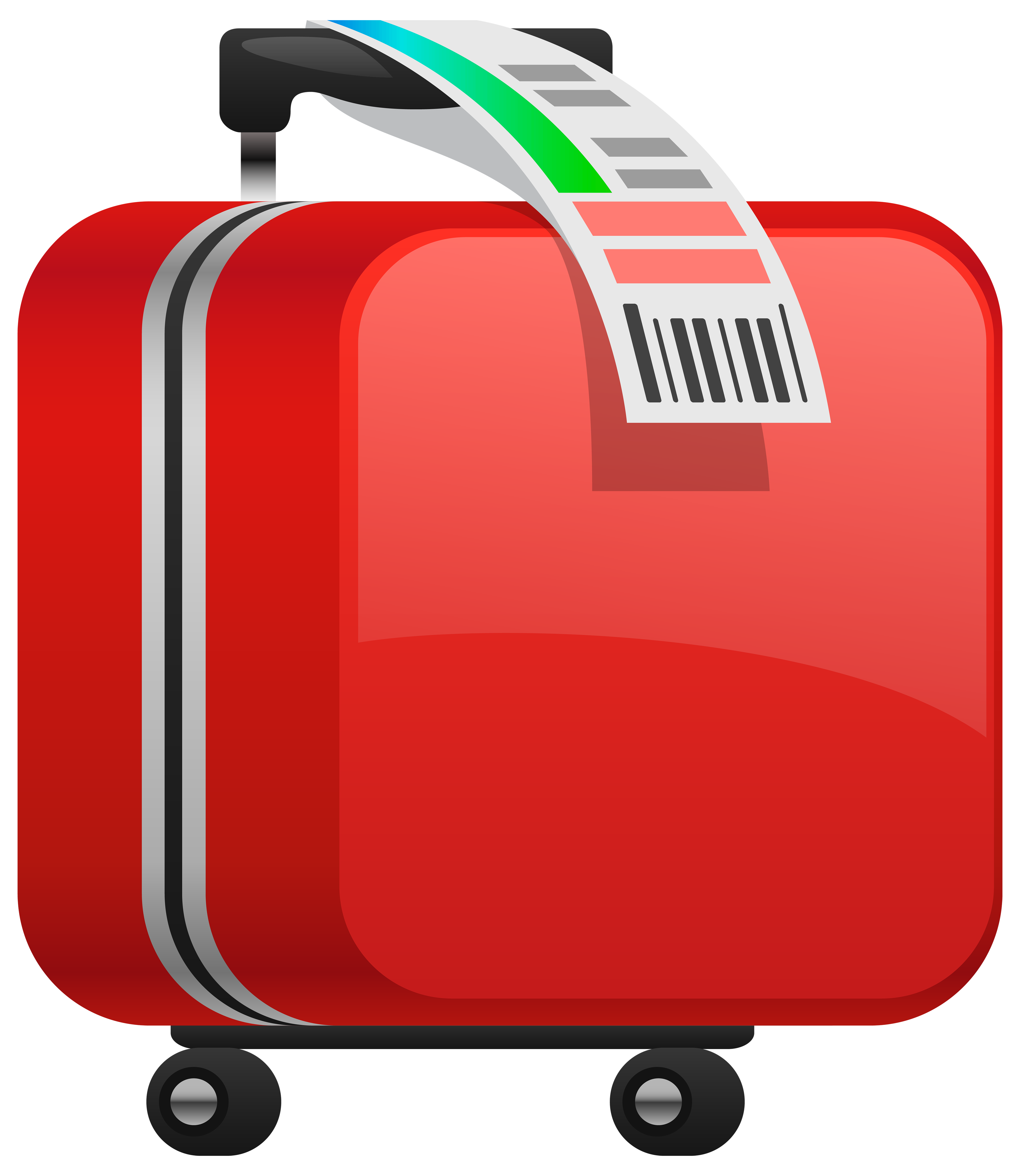 picture transparent Luggage clipart. Checked red suitcase png.