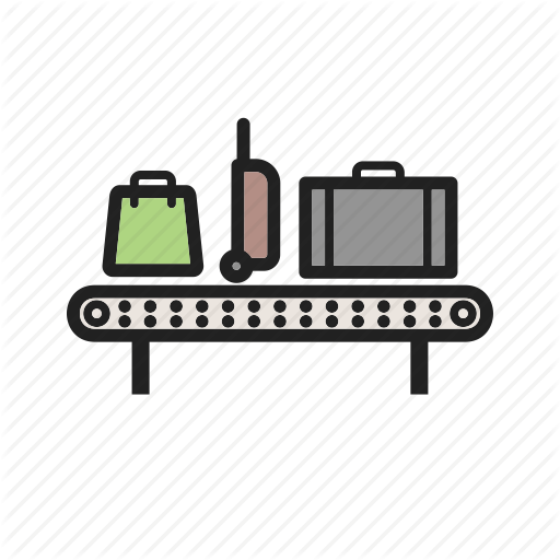 banner transparent Suitcase cartoon carousel bag. Luggage clipart baggage claim.