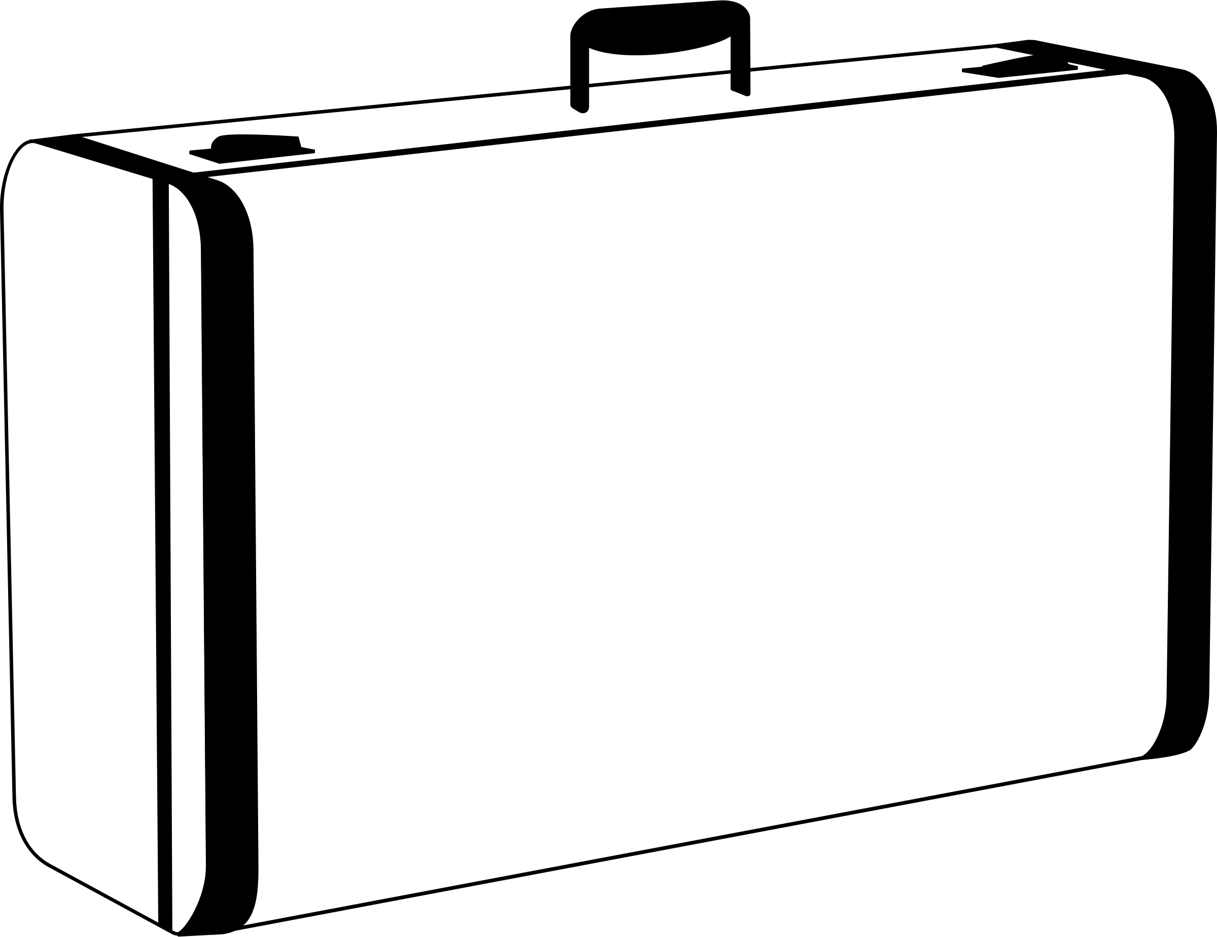 jpg royalty free stock  collection of suitcase. Luggage clipart black and white