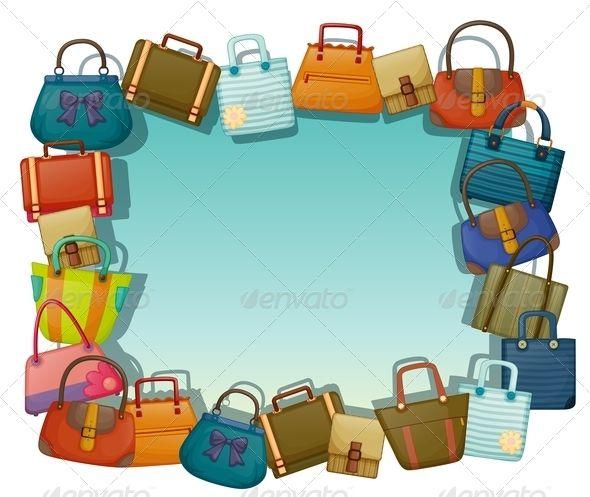 stock  free clip art. Luggage clipart border.