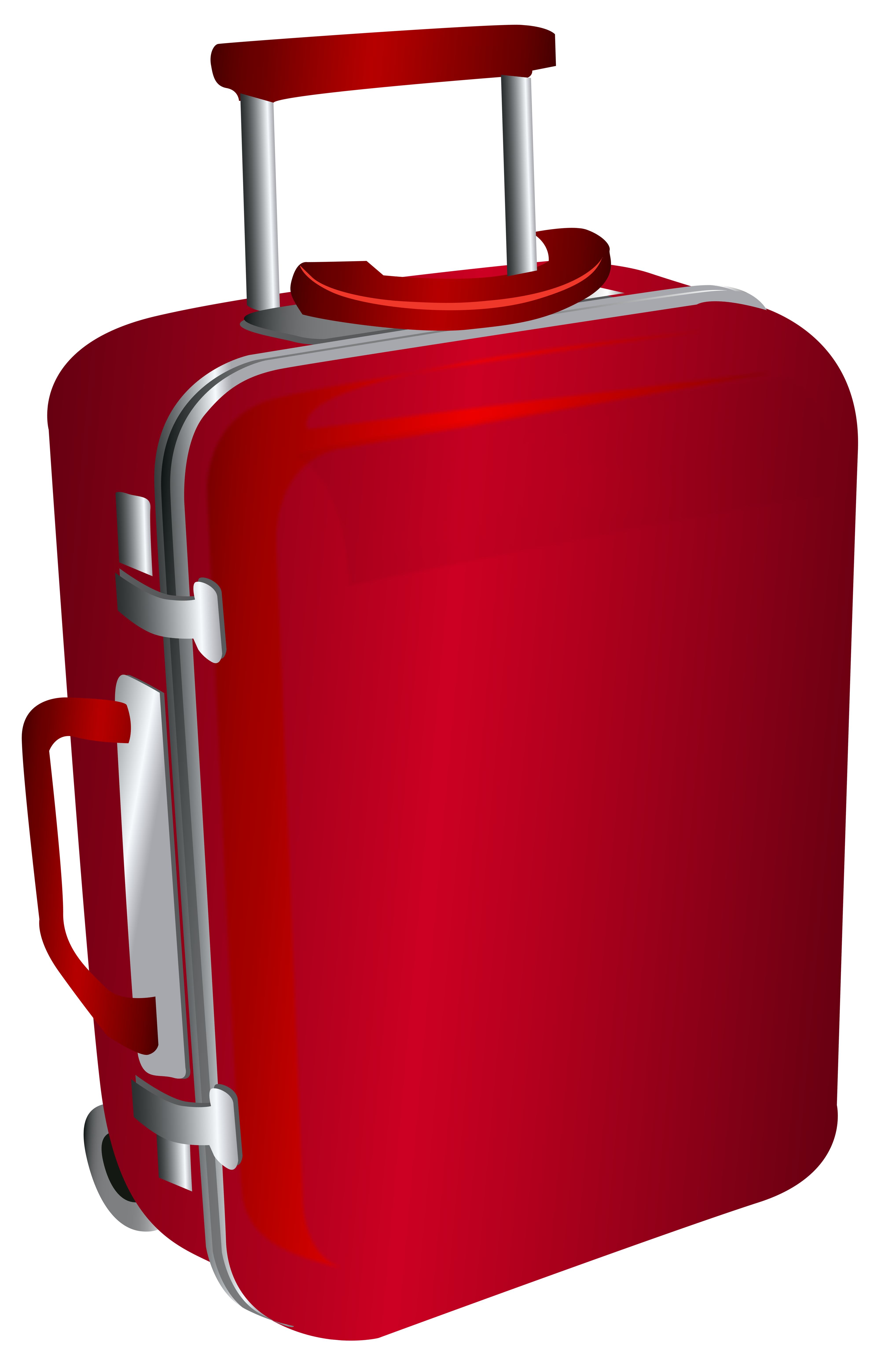 banner royalty free library Red trolley travel bag. Luggage clipart border.