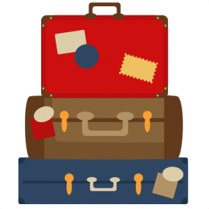 clip free Suitcase svg cutting file. Luggage clipart kawaii.