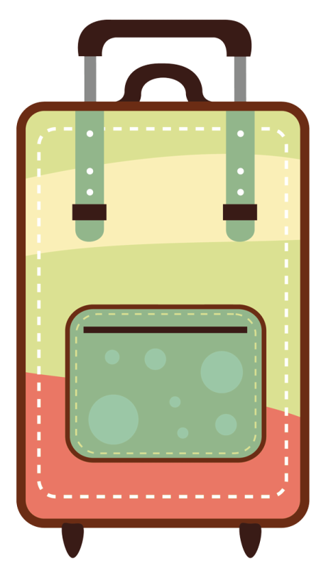 clipart black and white library Melaniesthings koffer png cores. Luggage clipart kawaii.