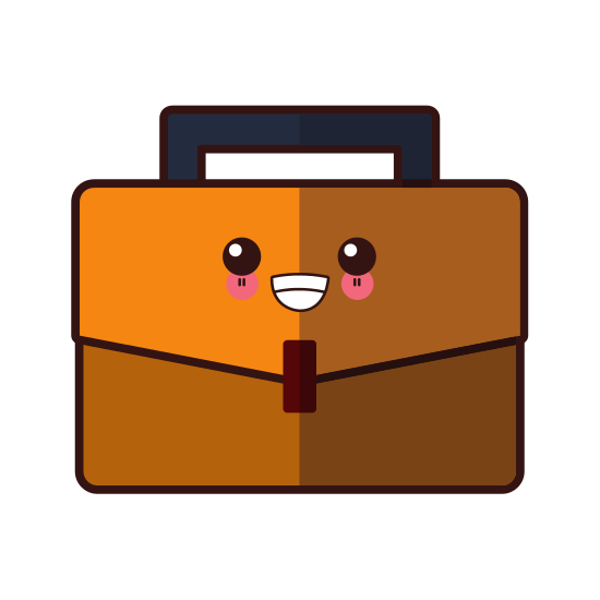 banner library Business briefcase symbol cute. Luggage clipart kawaii.