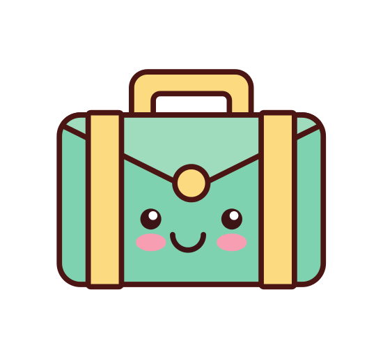 clipart royalty free library Luggage clipart kawaii. Free on dumielauxepices net.