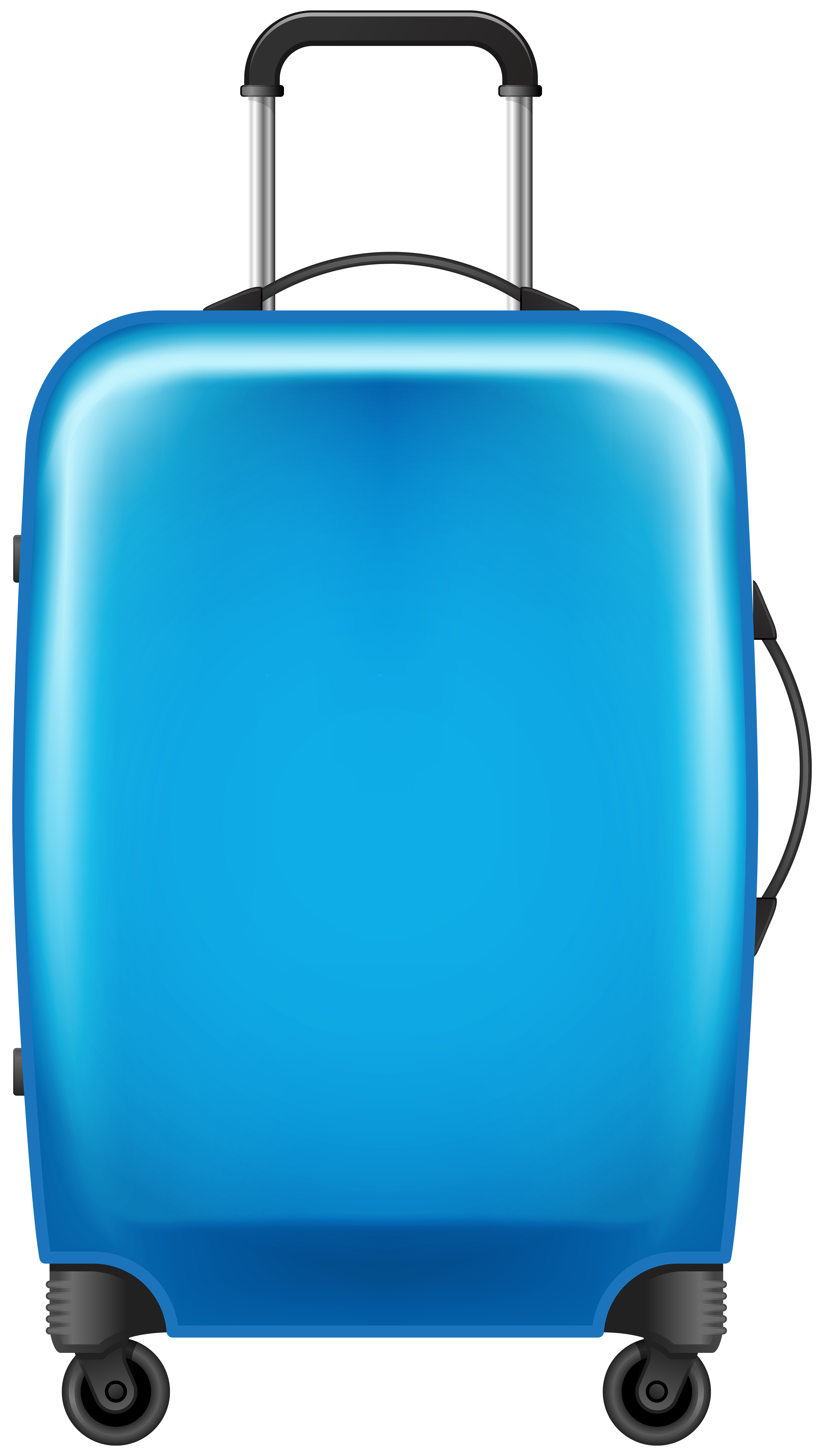 png royalty free stock Blue Trolley Suitcase Transparent PNG Image