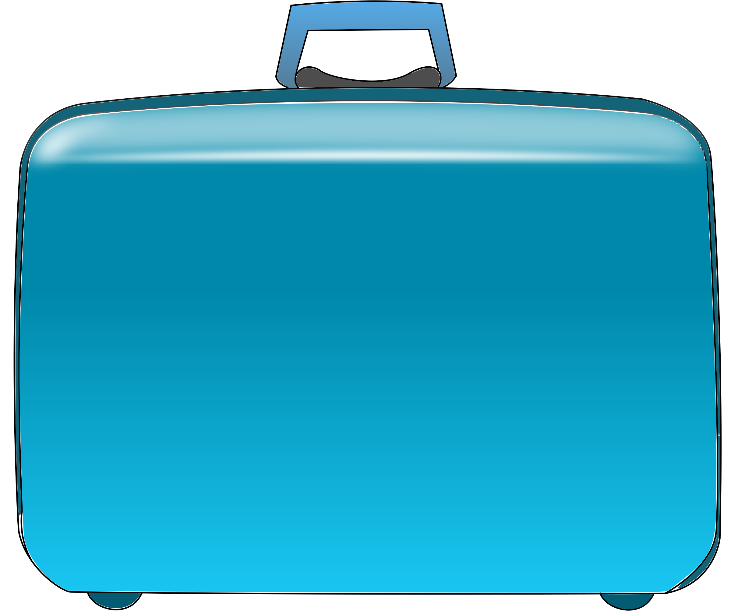 svg black and white library Briefcase clipart travel case. Suitcase clip art panda.