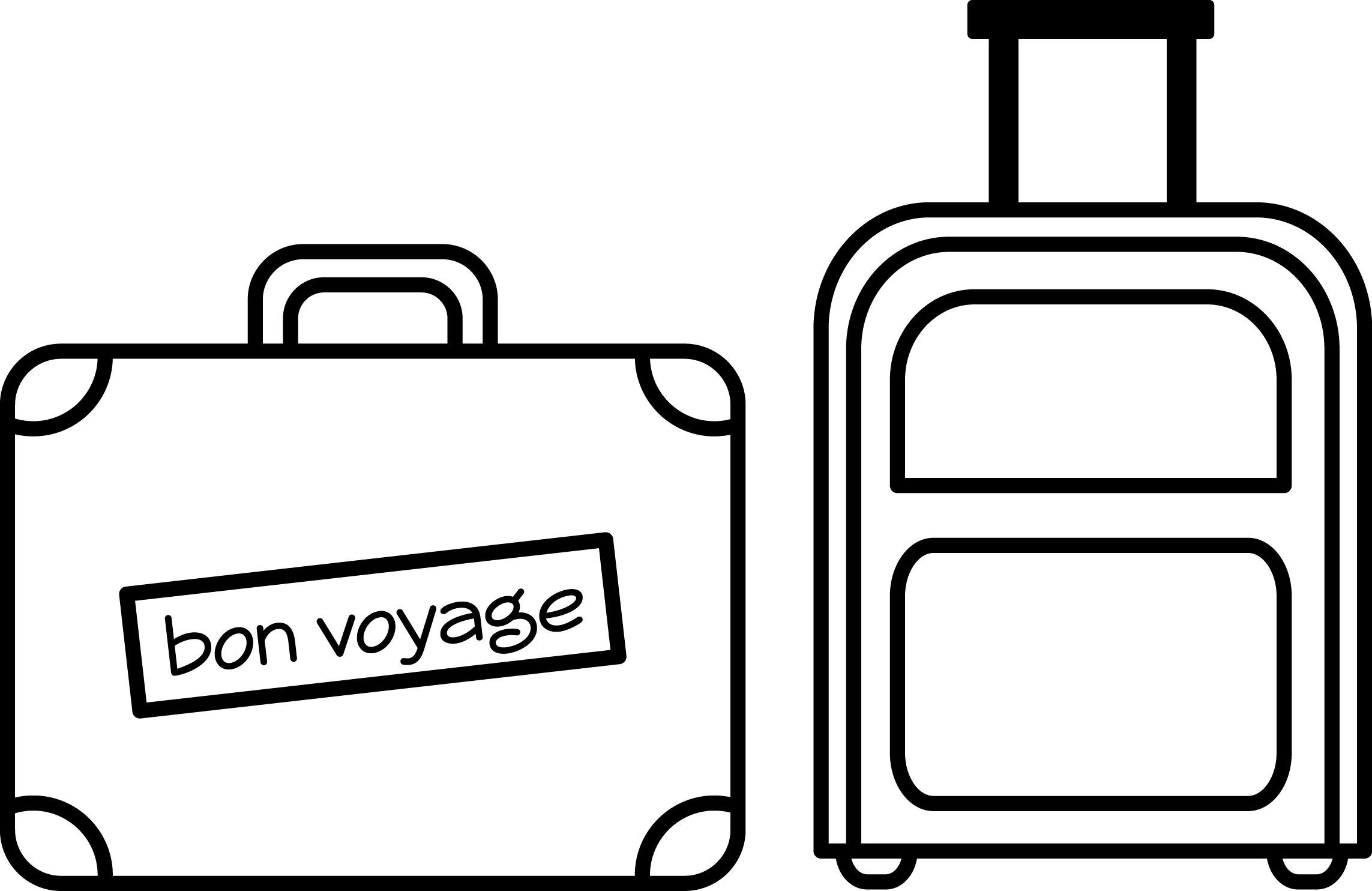 clipart royalty free download Luggage drawing. Suitcase bags